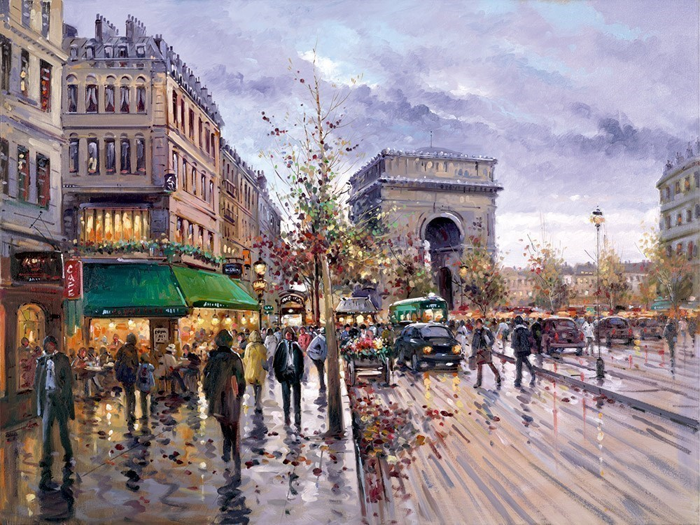 Postcard from Paris by Henderson Cisz - Limited Edition on Paper sized 12x9 inches. Available from Whitewall Galleries